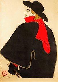 Henri de Toulouse-Lautrec Aristide Bruant nel suo cabaret 1893 litografia a colori, 127,3x95 cm © Herakleidon Museum, Athens Greece