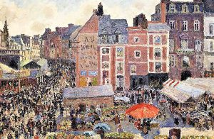 Camille Pissarro - La fiera in un pomeriggio di sole, Dieppe, 1901