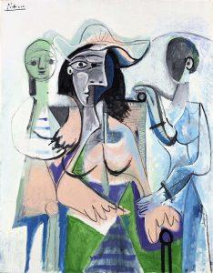 Pablo Picasso - Donna e bambine, 1961